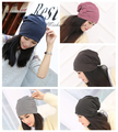 5 color High Quality Fashion Summer Striped Pile cap Women Beanies Knitted gorros Hip-Pop Skullies bonnet Hat For Adult