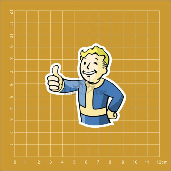 Game Fallout 4 Notebook refrigerator skateboard trolley case backpack Tables book PVC waterproof Car sticker
