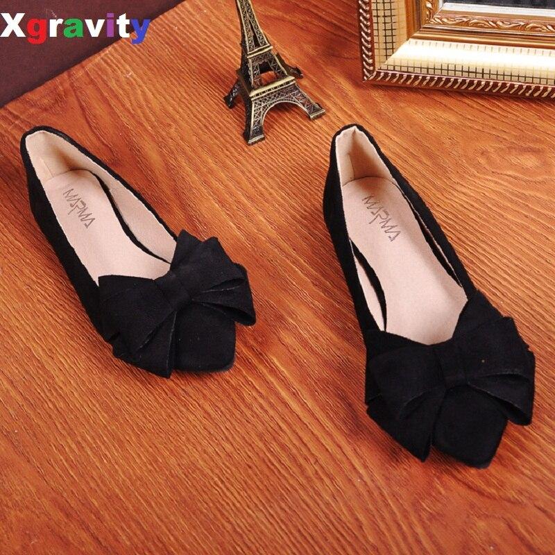 Tamaño 35-40 5 Colores Bowtie Zapatos Planos de Diseño de Punto Del Dedo Del Pie