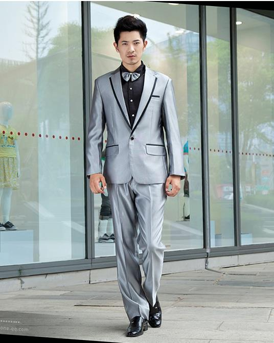 men suits for wedding Star style new mens suits costumes male host clothing Singer emcee silver costume de mariage pour hommes