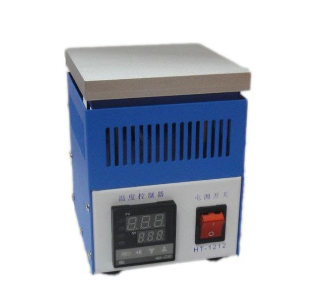 حمل و نقل رایگان ایستگاه های کوره گرمایش ایستگاه لحیم کننده HT-1212 با ضربات توپ از کوره لحیم کاری LED 120 * 120mm 4 قطعه