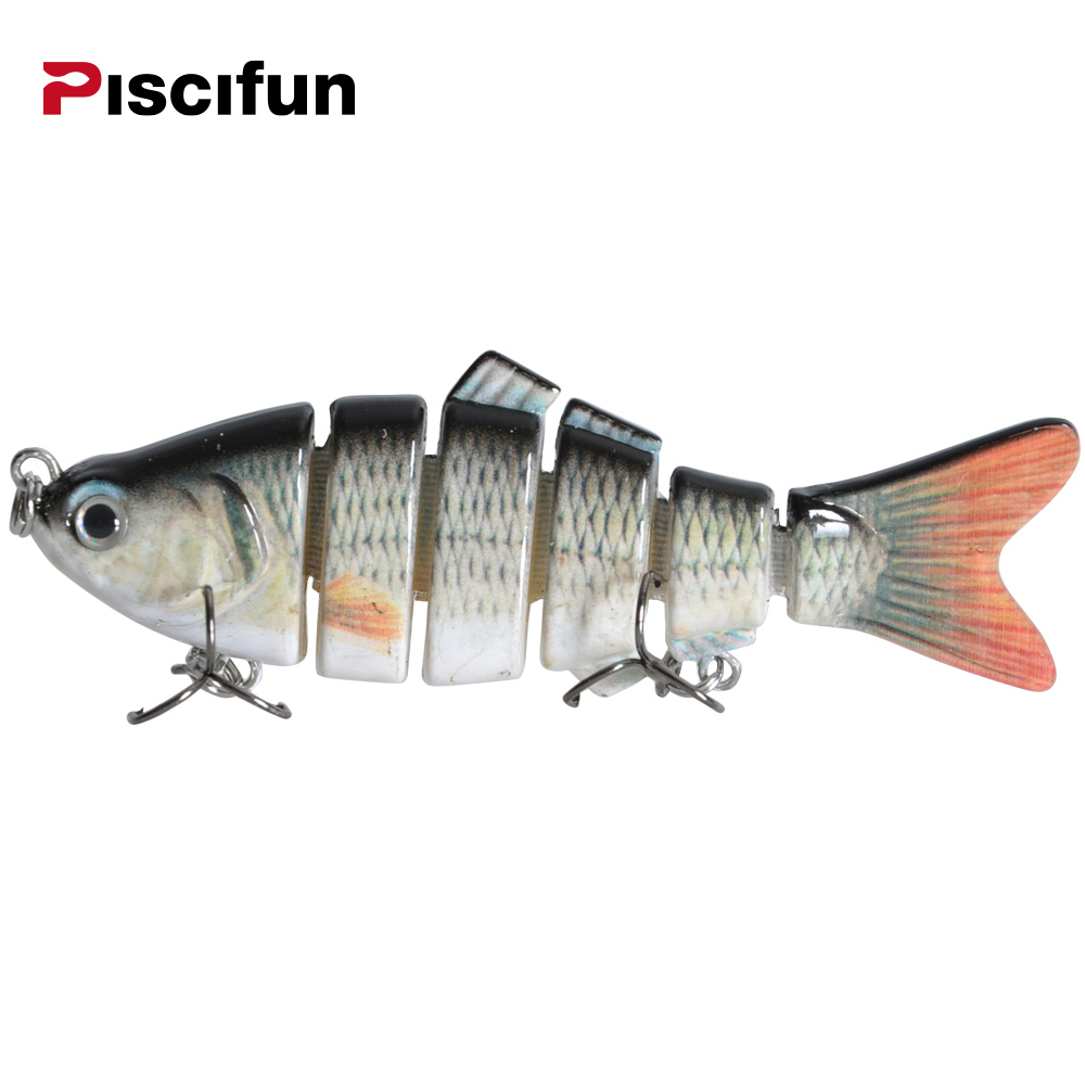 Piscifun Fishing Lure 10cm 20g 3D Eyes 6-Segment Lifelike Fishing Hard Lure Crankbait With 2 Hook Fishing Baits Pesca Cebo lifelike earthworm style fishing baits 5 pcs