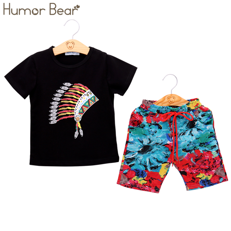 Humor Bear Boys Clothing Set Baby Boy Clothes New Summer Kids Clothing Sets Stripe Shirt + Pants 2Pcs Boys Suit
