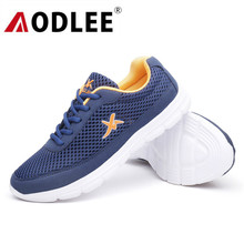 AODLEE 2019 Sneakers Men Summer Shoes Plus Size 45 Comfortable Men Casual Shoes Mesh Breathable Loafers Slip-on Footwear Male