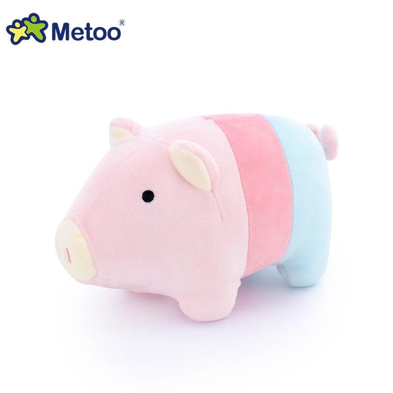 22 cm Metoo muñeca juguetes de los niños para niñas niños bebé Kawaii peluche animales de peluche de juguete de regalo de Navidad de cumpleaños Color de cerdo