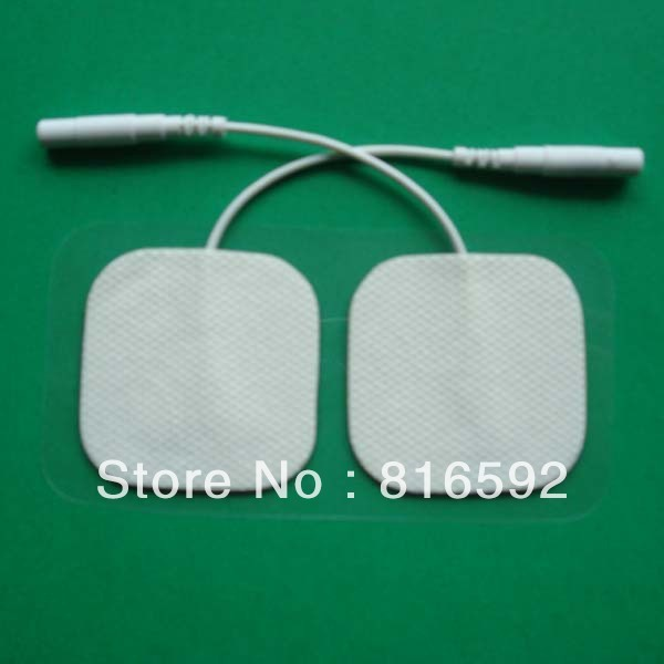 Free shipping 60pcs carbon fibric reusable adhesive electrode pads for acupuncture digital tens ems machine