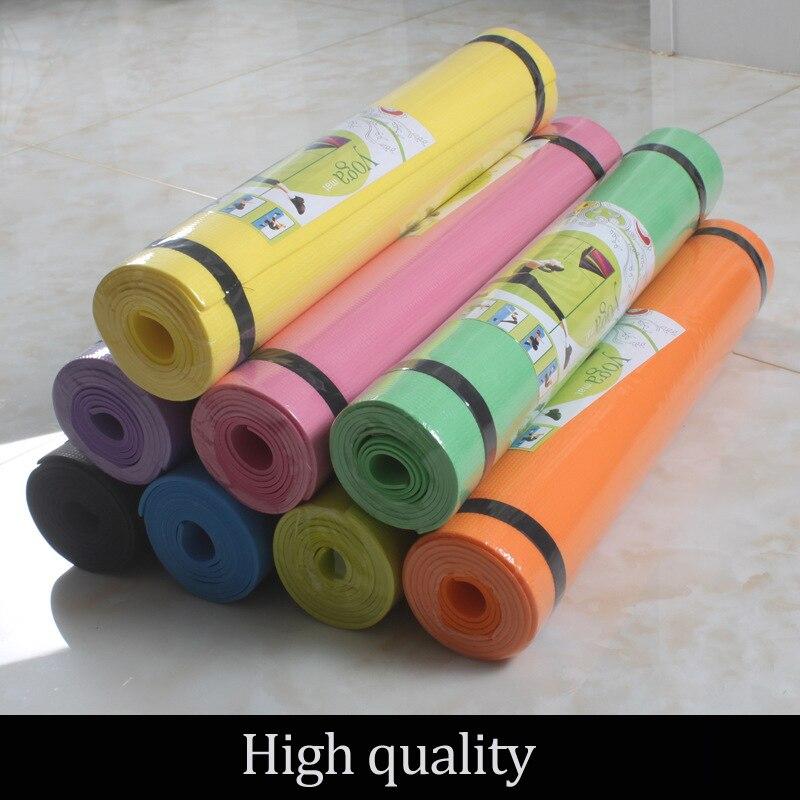 Купить с кэшбэком 4mm Thick 1730*600mm EVA Yoga Mat High Quality Non Slip Carpet Mat For  For Beginner Exercise Fitness Gymnastics Mats