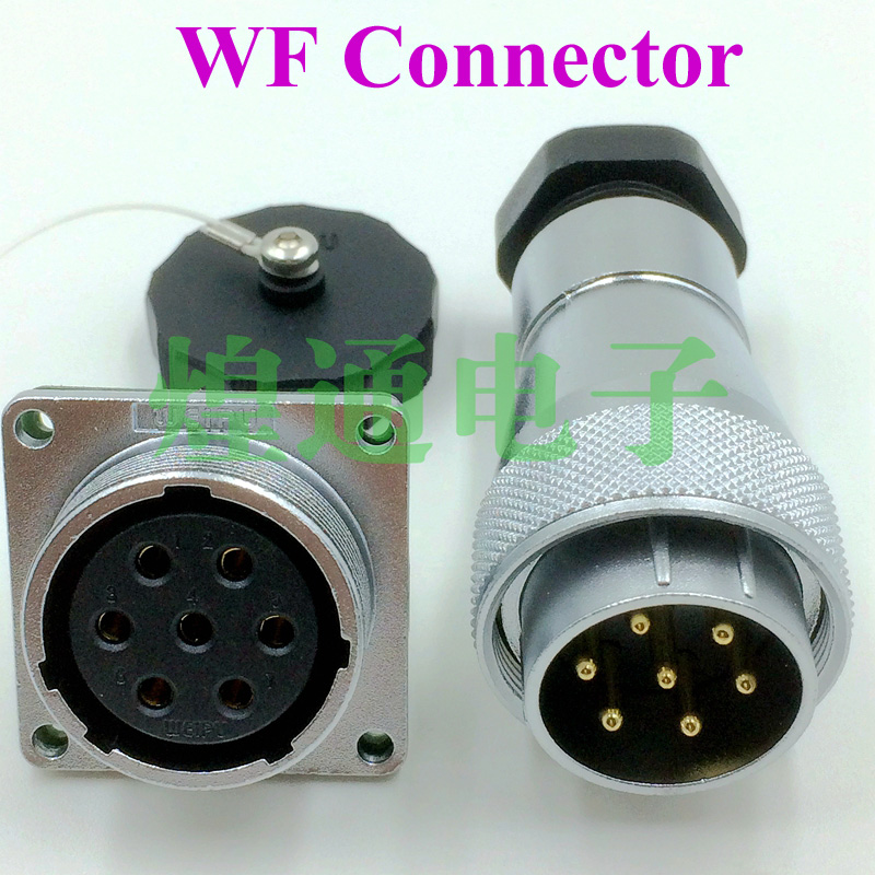 2sets For WEIPU WF28 series 4-7-17-20-24 pin aviation plug socket connector Male Female welding waterproof weipu connector y2m series 21mm y21m fast buckle aviation cable connector plug male