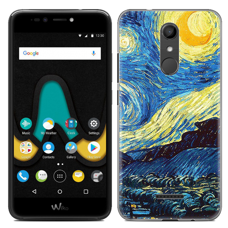 Caja del teléfono para Wiko Upulse Lite U Pulse Lite 5.2 pulgadas Cute Cartoon High Quality Pintado TPU Soft Silicone Skin Back Cover Shell