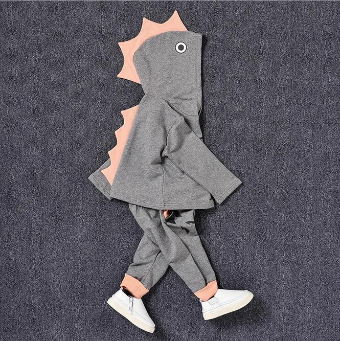 ФОТО Two Pieces Children 's Outerwear Clothing Fall Todder Boys Clothes Cute Print Pattern Ensemble Garcon Baby Cute Long Sleeve Suit