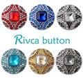 D02859 caliente al por mayor de alta calidad de cristal estilos 18mm botón a presión de metal rhinestone del encanto estilos botón rivca botón snap joyería