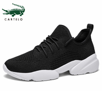 CARTELO Women Shoes Summer Breathable Sneakers Women Treainers Knitted Vulcanized Shoes