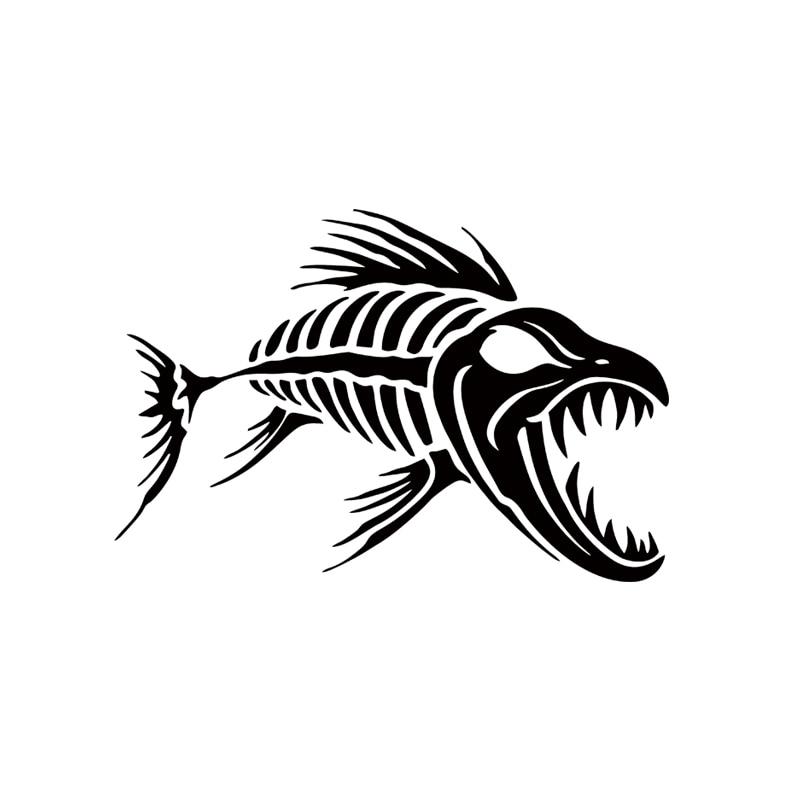 Rudern Boote 2 Stück Skeleton Fisch Knochen Aufkleber Aufkleber Für Kajak Angeln Ozean Beiboot Auto Diy