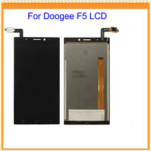 5.5 inch New For Doogee F5 LCD Display Digitizer with Touch Screen Assembly Black colors with Track Number Free Shipping