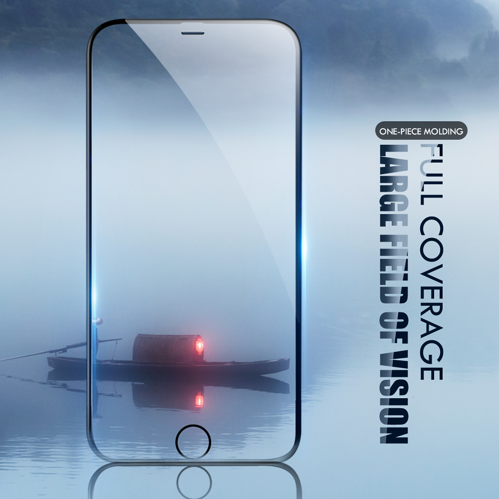 For iphone 7 screen protector 9H enhanced invisible tempered glass for iphone 8 plus iphone7 6 6s x xs protective glass film-in Phone Screen Protectors from Cellphones & Telecommunications