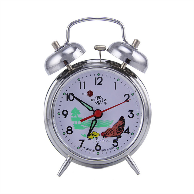 Wind Mechanical Alarm Clock Copper Core Retro Old Metal Loudly Pointer Single Sided Simple Modern