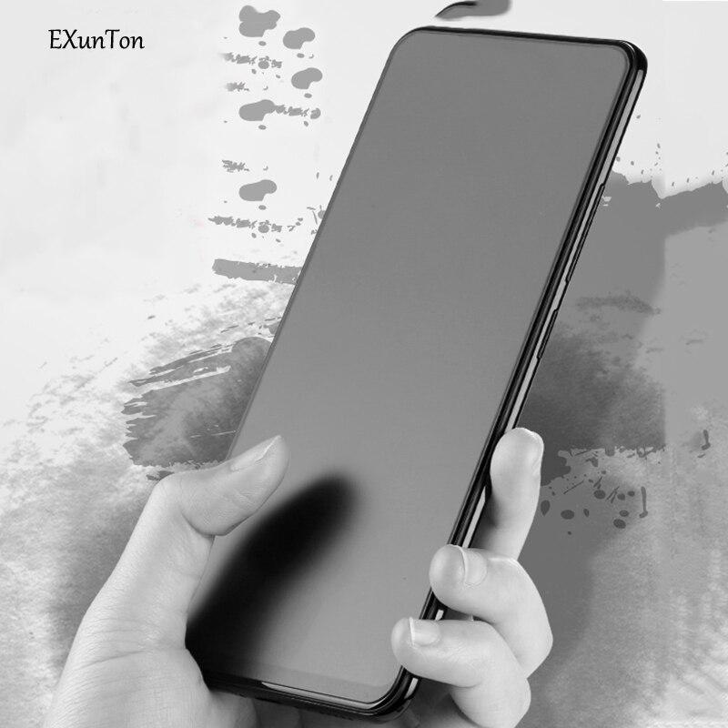 Exunton For VIVO V15 V15Pro 2.5D Full Cover Matte Frosted Tempered Glass For VIVO V15 V15 Pro Anti-finger Screen Protective Film