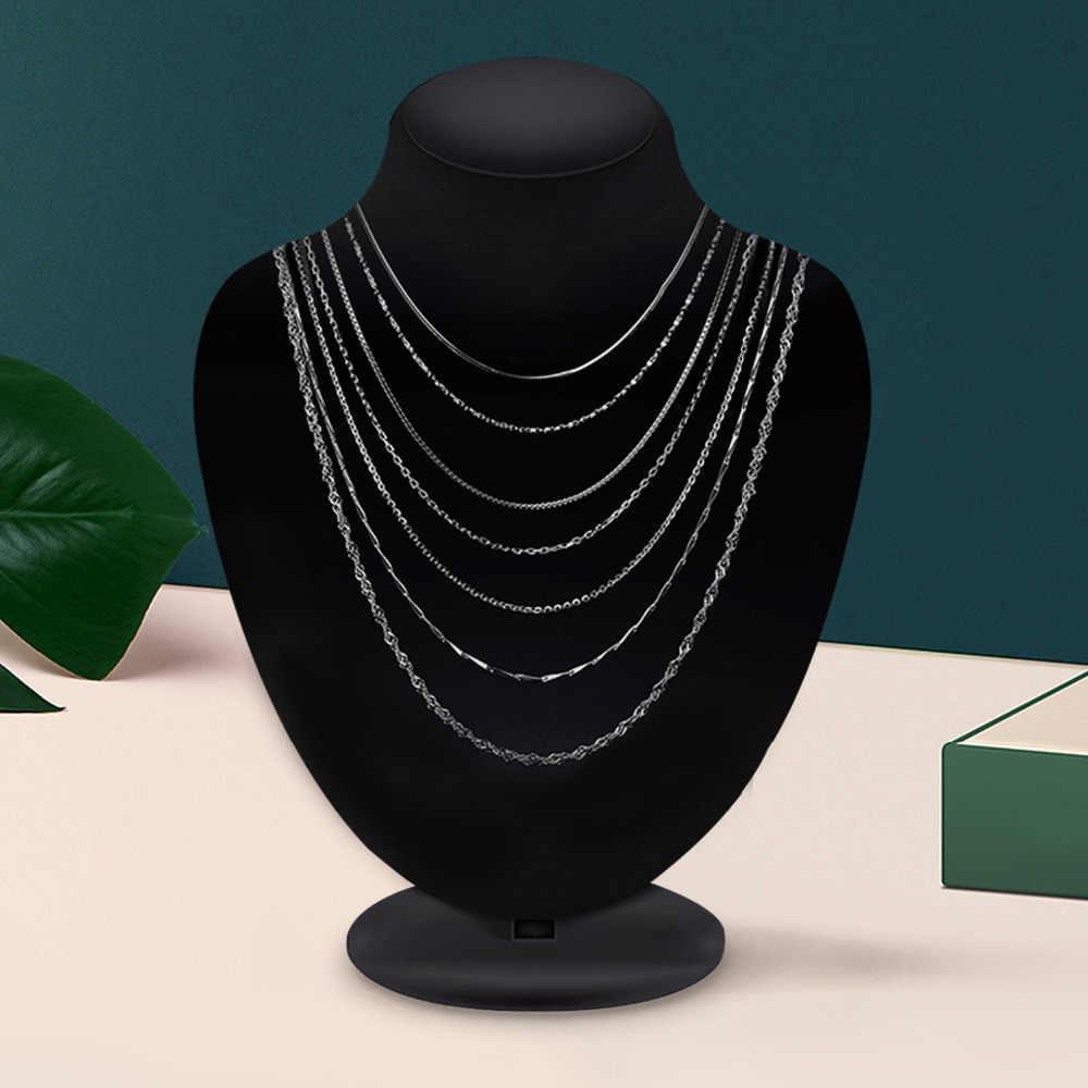 JewelryPalace 100% 정품 925 스털링 실버 목걸이 Ingot Twisted Trace Belcher 스네이크 바 싱가포르 박스 체인 목걸이 여성