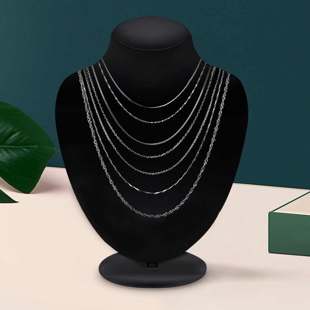 Jewelrypalace 100% Echt 925 Sterling Zilveren Ketting Ingots Twisted Trace Belcher Snake Bar Singapore Box Collier Vrouwen