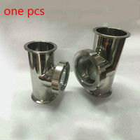 3 x 3 x 2/ 4 x 4 x 3 Stainless Steel Sight Glass Union TriClamp Tee SS304. Height 150mm