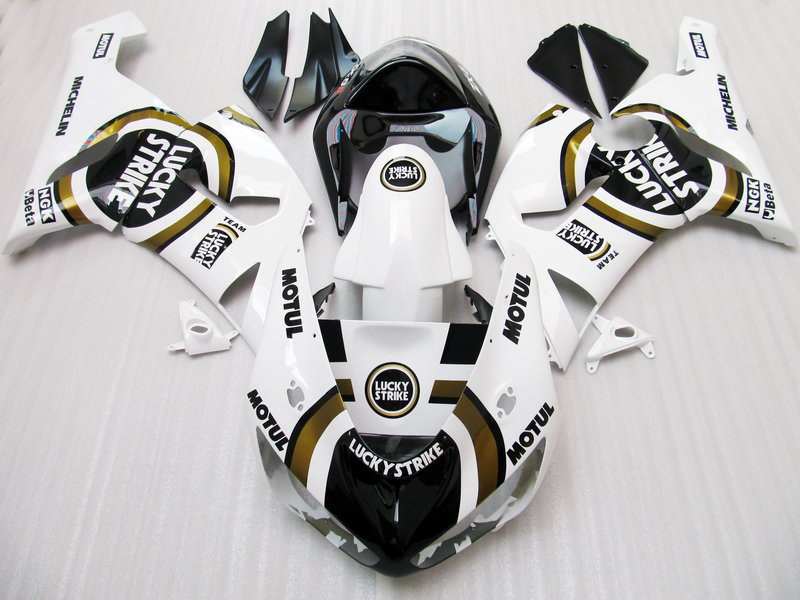 100%NEW+ LUCKY STRIKE fairing kit FOR KAWASAKI NINJA ZX 6R 636 05 06 ZX-6R 05-06 ZX6R 2005 2006 ZX 6R 05 06 fairings white black