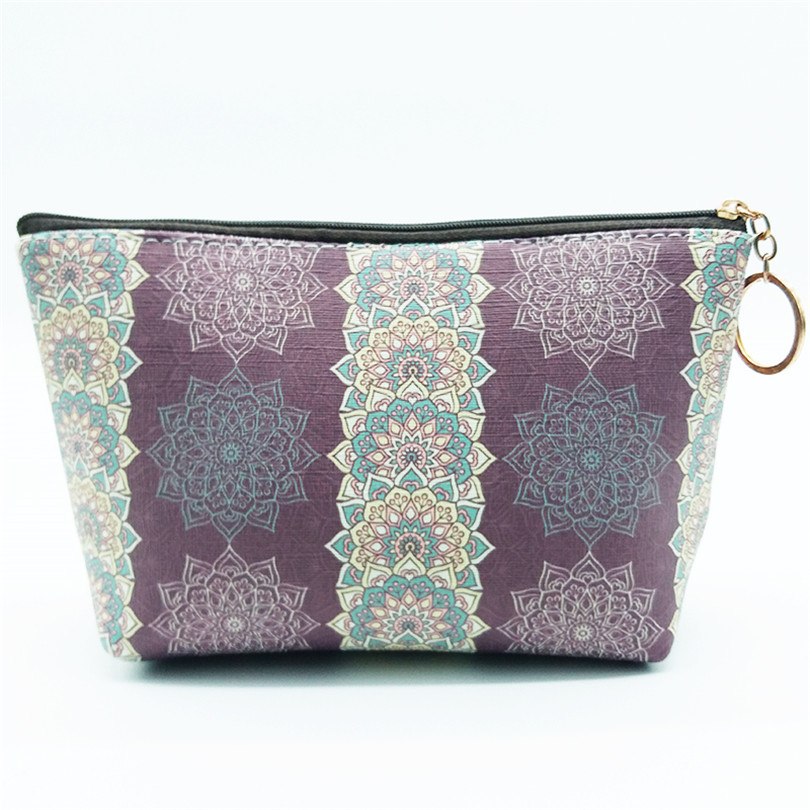 Want Go National Women Makeup Bag Cosmetic Cases Travel Organizer Storage Pouch Lady Multicolor Professional Toiletry Wash Bag