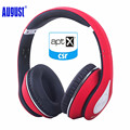 August EP640R Wireless Bluetooth Headphones with NFC 3.5mm Audio in Wired Stereo Headset with Microphone for Phone,PC