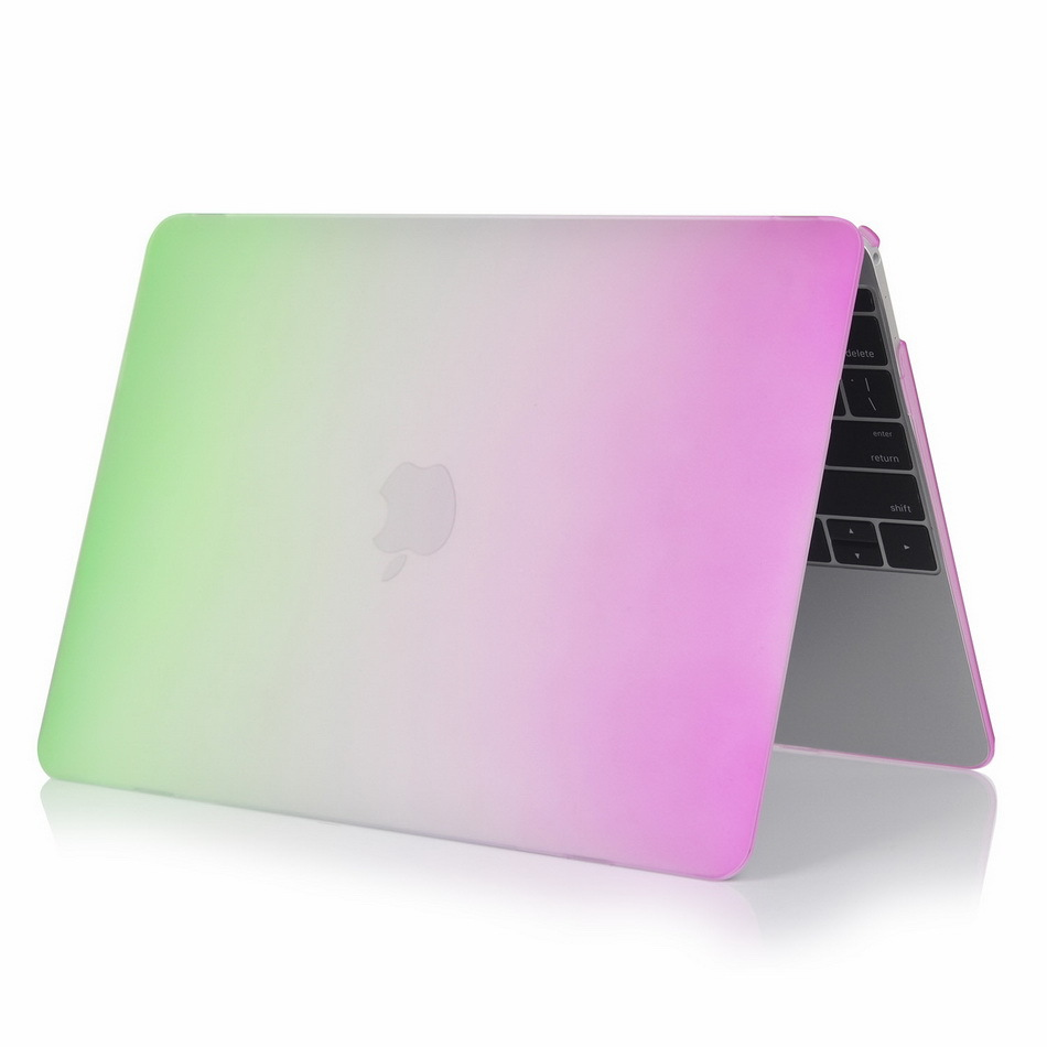 2015 Rainbow Laptop PC Plastic Shell Full Protective Case For Macbook 12 inch Cover Hot Sale Free Shippipng image