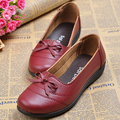 High quality women single shoes genuine leather office work shoes female spring flat nurse shoes ballet flats woman moccasins
