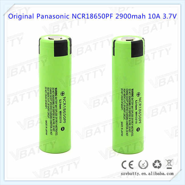 100% original for Panasonic NCR18650PF 18650 PF 2900mah 10A high drain rechargeable 3.7V li-ion battery with flat top(1 pc)