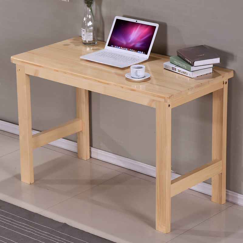 Cheap package custom wood home computer desk desktop pine notebook ...
