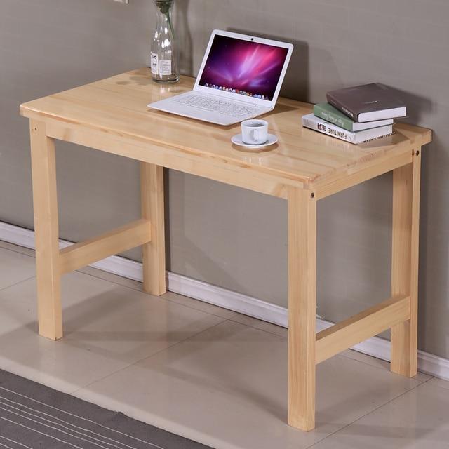 Cheap Package Custom Wood Home Computer Desk Desktop Pine