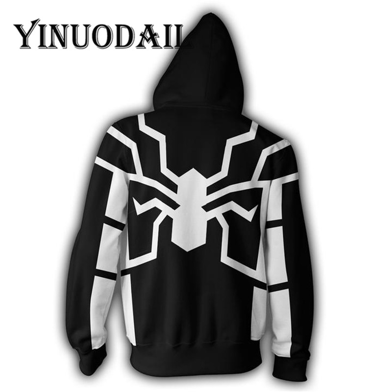 Fans Wear Marvel Spiderman Cosplay 3D Jackets Unisex Long Sleeve Zip Up Sweatshirt for Women amp Men Clothes 2018 Sweat Homme in Jackets from Men 39 s Clothing