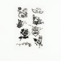 scrapbook DIY paper card beauty flowers lace clear STAMPS FOR PHOTO scrapbooking stamp for christmas wedding gift TM-122