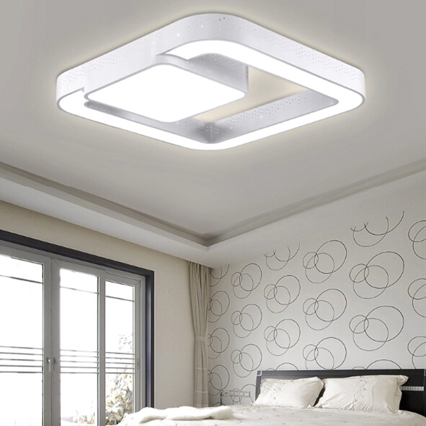 2015 Newest Modern Style Original Design Living Bed Room Kitchen 90 260V Aisle LED Strap Ceiling Lights WhiteWarm White Color In From