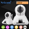 Sricam sp006b wi-fi 720 p câmera ip onvif sem fio campainha casa inteligente Câmera de CCTV HD Indoor Pan/Tilt IR CUT Suporte 128G TF Cartão