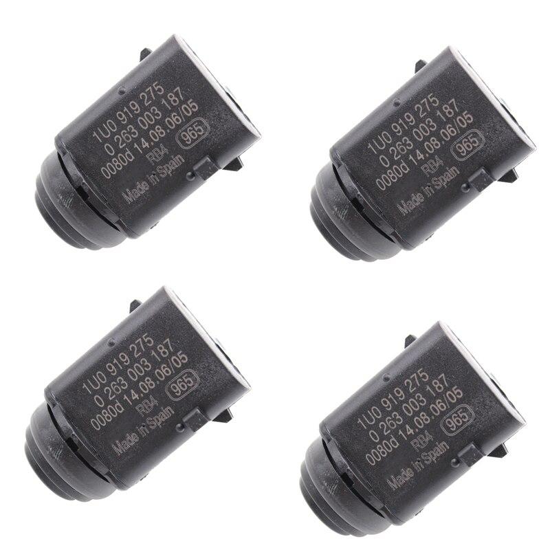 4pcs SI-A0222 Front Rear Parking Sensor Reverse Aid PDC for Audi Q7 VW Golf Touran Touareg 1U0919275 1J0919275
