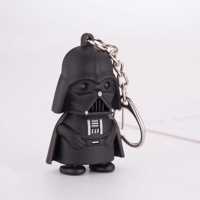 VKME 2018 Star Wars Keyring Light Black Darth Vader Pendant LED KeyChain For Man Gift 4