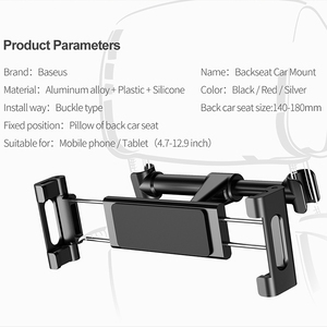 Image 5 - Baseus Car Back Seat Headrest Holder for 4.7 12.9inch Pad Car Phone Holder Backseat Mount for Pad Tablet PC Auto Headrest Holder