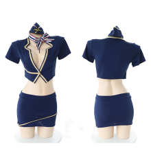 Jimiko sexy stewardess uniform temptation suit bag hip skirt aircraft crew erotic role playing Costumes adult sex
