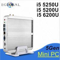 Thin client,nettop intel NUC i5 5200u mini pc computer,4G RAM 500G HDD ,2*Gigabit LAN+2*HDMI,SD card,300M WIFI, micro pc