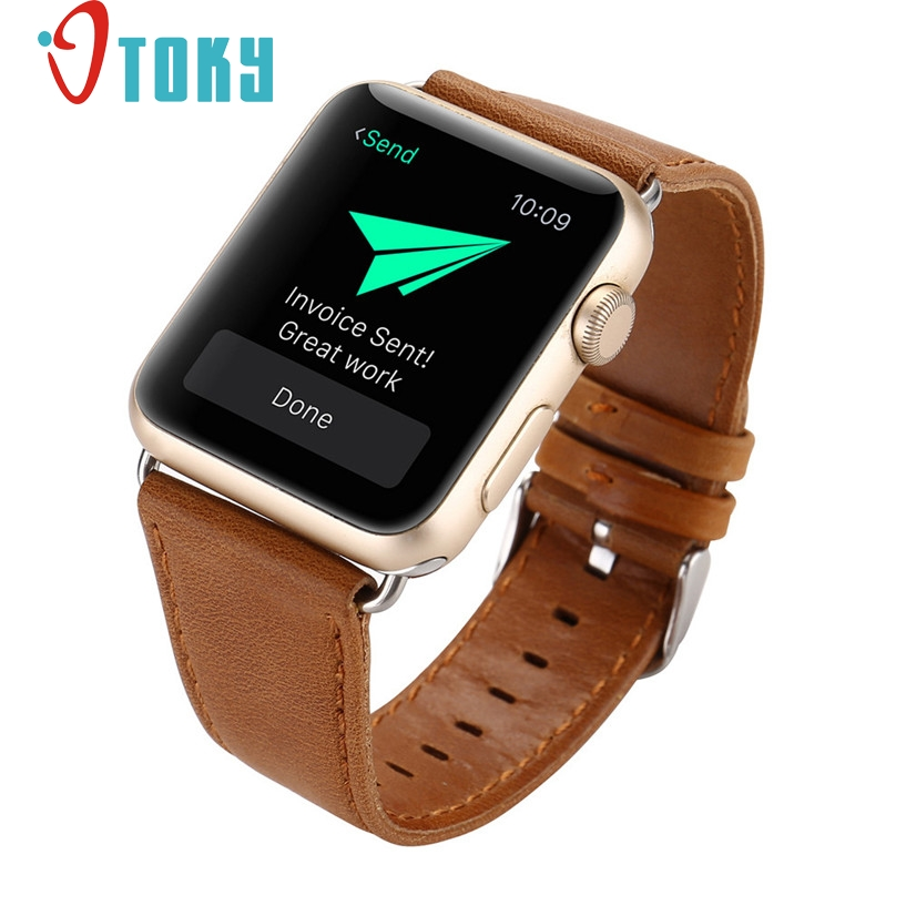 Hot Sale OTOKY Fabulous Leather Buckle Wrist Watch Band Strap Horses Belt for Watch Apple Watch 38mm Wrist Watch Band wholesale hot sale hot sale car seat belts certificate of design patent seat belt for pregnant women care belly belt drive maternity saf