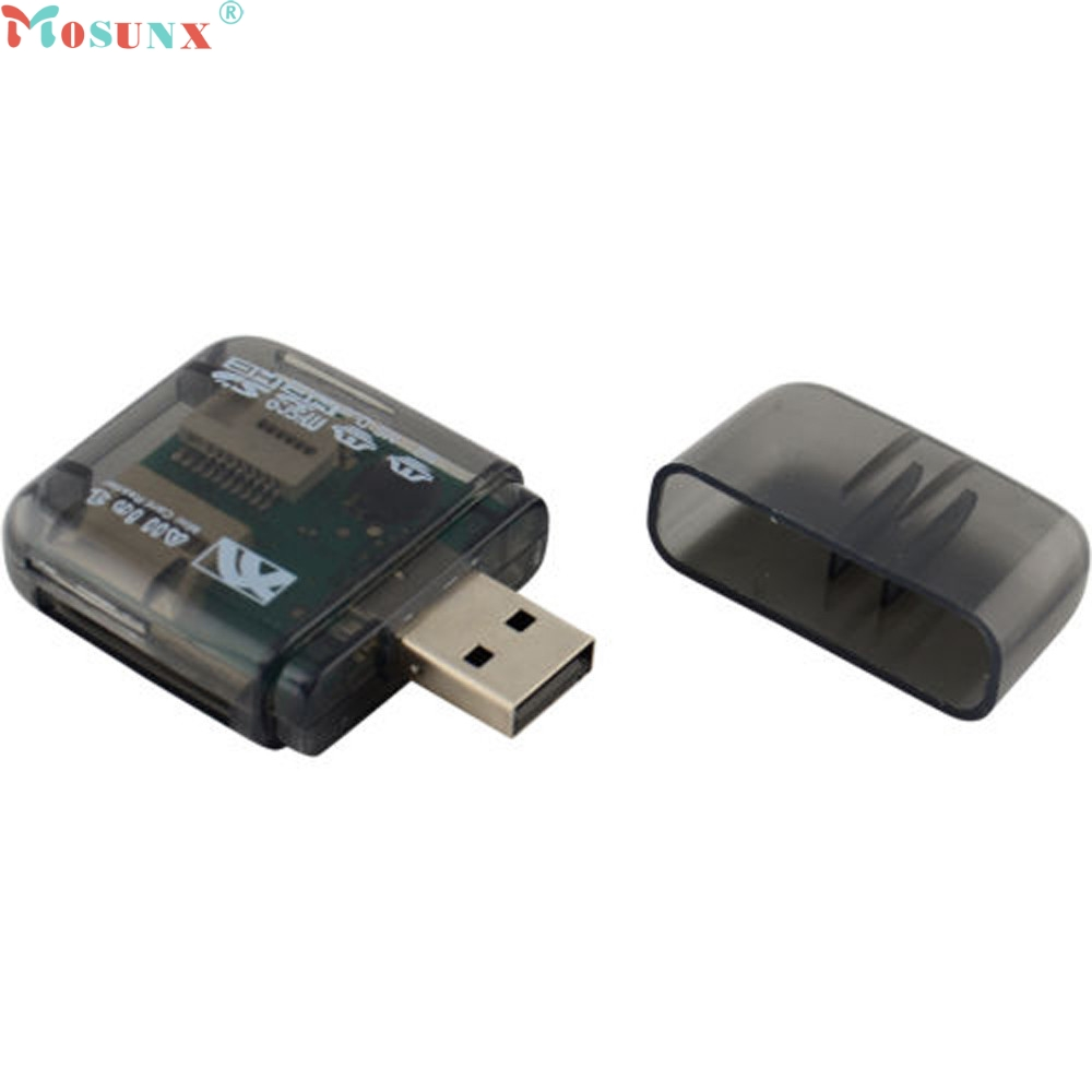 Mosunx Simplestone USB 2.0 Flash Memory Card Reader All-in-One SD/SDHC Micro-SD/TF MS-Duo M2 0216 кардридер usb 1 sdhc ms 2 tf sd [151 01 01 all in 1 card reader 01