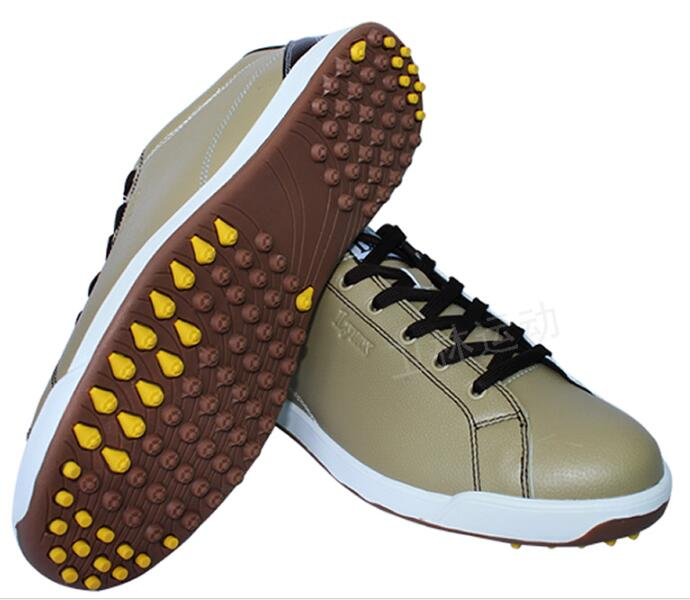 2018 LYNX New Mens Golf Shoes men microfiber leather sneakers male Breathable waterproof non-spikes anti-skid sports Shoes