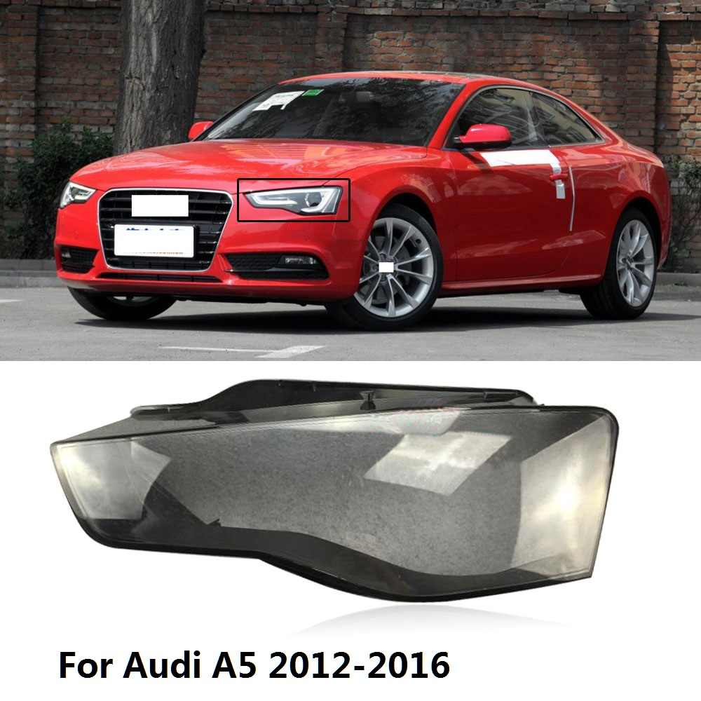 CAPQX 1PC For Audi A5 2012-2016 Front Headlamp Lampcover Headlight Lampshade Waterproof Bright Lamp Shade Shell Cover Cap