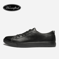 Size 37 47 Full Grain Leather Men Shoes 2017 Hecrafted Fashion Comfortable Men Casual Shoes AB502