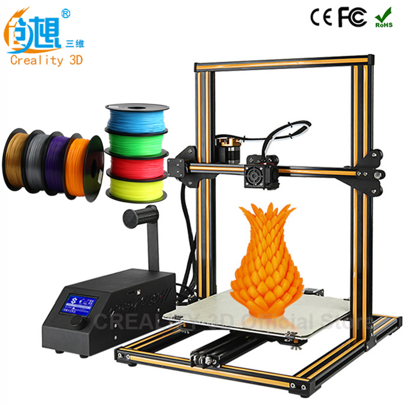 CREALITY 3D CR-10 3d Printer Prusa i3 DIY 3d Printer kit Easy Assembly Metal Frame LCD Display ABS PLA filament 1.75mm