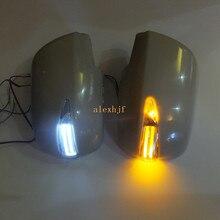 Светодиодный зеркальный фонарь заднего вида+ крышка, желтые поворотники, белые DRL, светодиодный чехол для наземной лампы для Toyota Noah Voxy Previa Estima Alphard