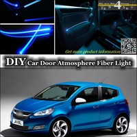 For Vauxhall Viva interior Ambient Light Tuning Atmosphere Fiber Optic Band Lights Inside Door Panel illumination Not EL light