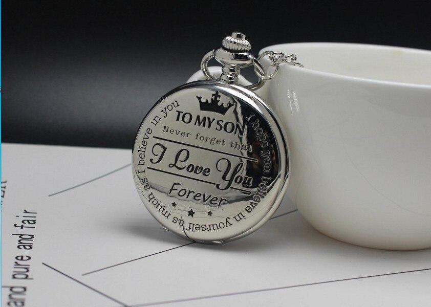 Quartz Pocket Chain Watch To My Son THE GREATEST Necklace Watches For Men Children's Day Kids Gift Present Reloj De Bolsillo